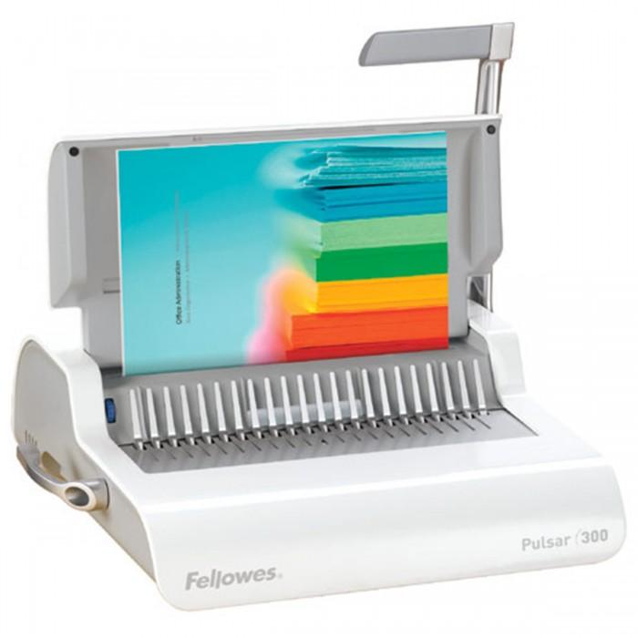 Encadernadora Fellowes Pulsar 300 - Perfura até 15 folhas, encaderna até 300 folhassistema de encadernação manual: garra plástica, gaveta de resíduos
