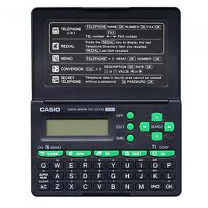Agenda Eletrônica Casio DC-2000 - 130 tel, calculadora 12 dígitos, anotações (Cod:5221)