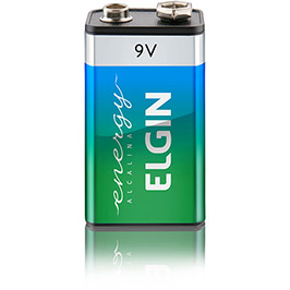 Bateria Elgin Alcalina 9V - Blister com 1 Bateria