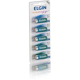 Bateria Elgin Alcalina A23 (12V) - Cartela com 5