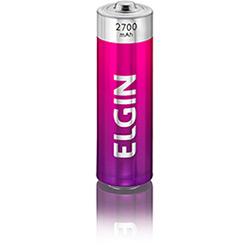 Pilha Recarregável Elgin AA - Blister 2700 mAh c2 Peças cod. 82174