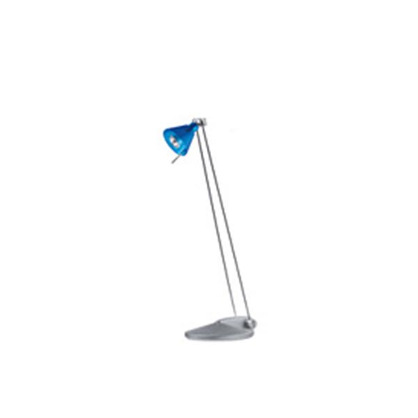 Luminária de mesa Yellowstar YS-6201 Azul, 127V, braço c/regulagem direção, lâmpada de 20W inclusa