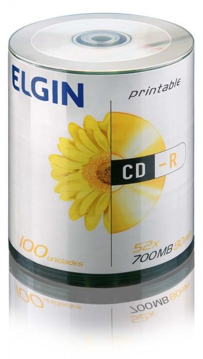 M�dia CD-R Printable 700MB/80 min/52 X (Tubo com 100 unidades) C�d.: 82045