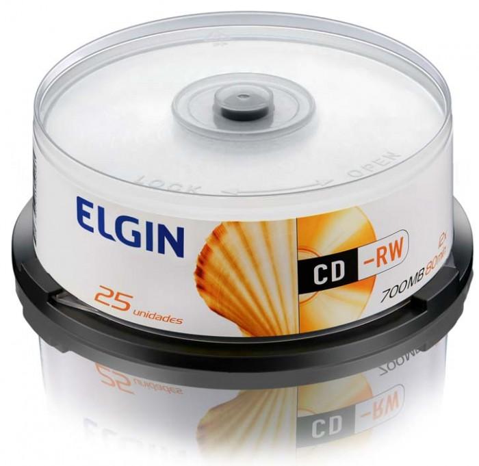 Mídia CD-RW Elgin 700MB/80 min/12 X (Tubo com 25 unidades)