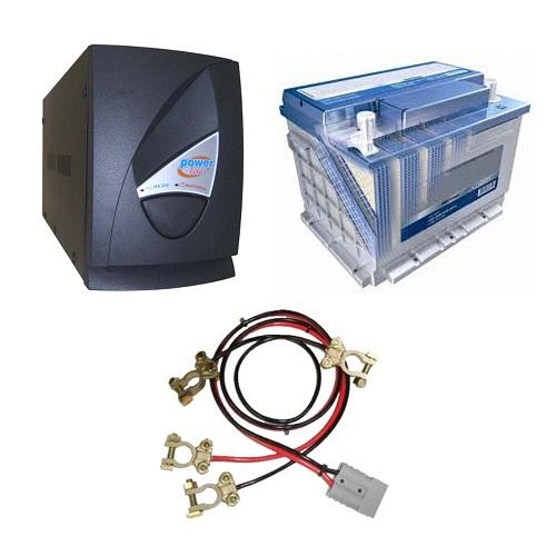No Break Multicraft 1250 VA, cabos, com bateria interna e bateria externa automotiva 60Ah - duração de até 2 horas