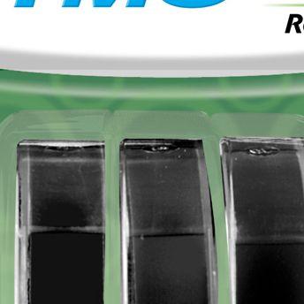 Blister C/3 un Fita Dymo auto-adesiva Brilhante p/ Rotulador Manual (9mm x 3 mts) - preta - cód. 1741670