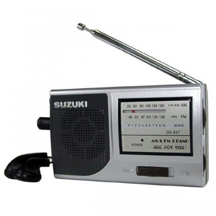 R�dio Suzuki SZ-557 AM/FM acompanha fone de ouvido