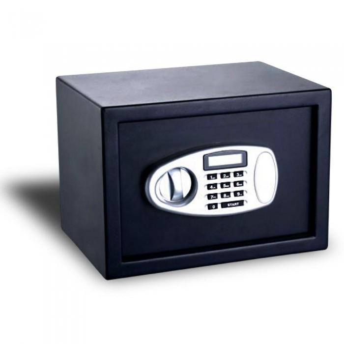 Cofre Eletrônico com tela LED Safewell 20MB - Medidas Externas (AxCxP): 200x310x200mm, Capacidade: 8L, Senha: 3 a 8 dígitos