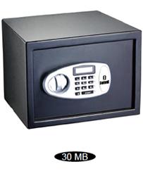 Cofre Eletrônico com tela LED Safewell 30MB - Medidas Externas (AxCxP): 300x380x300mm, Capacidade: 26L, Senha: 3 a 8 dígitos