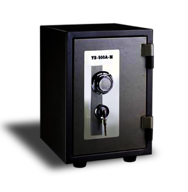 Cofre à prova de fogo Safewell YB-500A-M - Medidas Externas (AxCxP): 450x300x350mm, Capacidade: 12L, Trava mecânica e 2 chaves