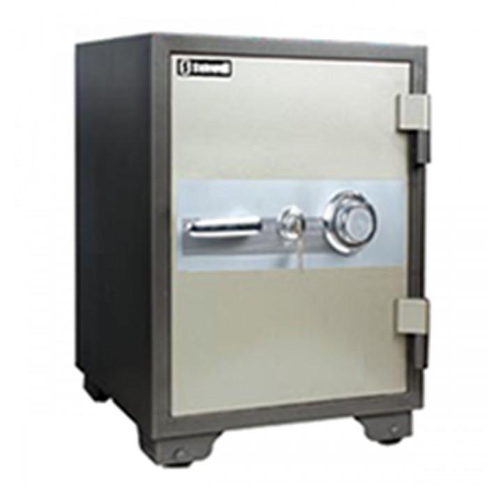 Cofre à prova de fogo Safewell YB-530A - Medidas Externas (AxCxP): 600x460x470mm, Capacidade: 39L, Trava mecânica e 2 chaves