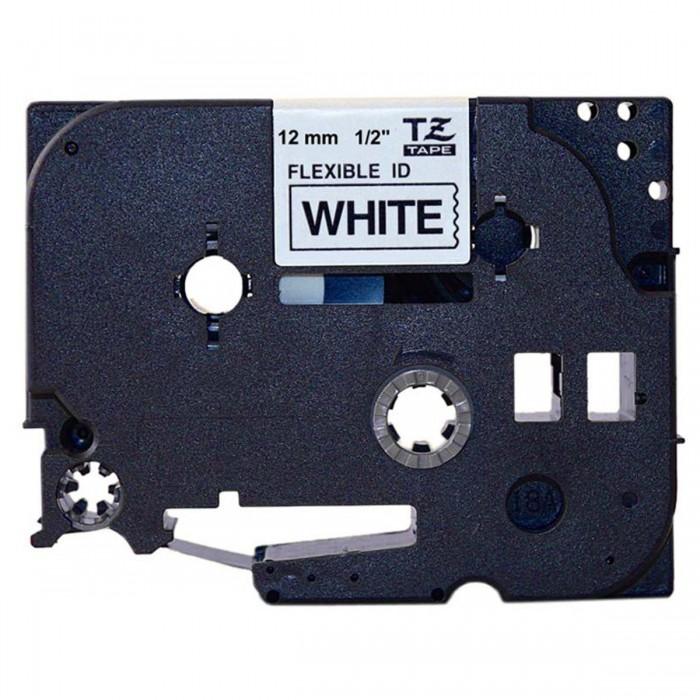 Fita Flexível Brother TZFX-231 - Largura: 12mm, Preto sobre Branco, Comprimento: 8m