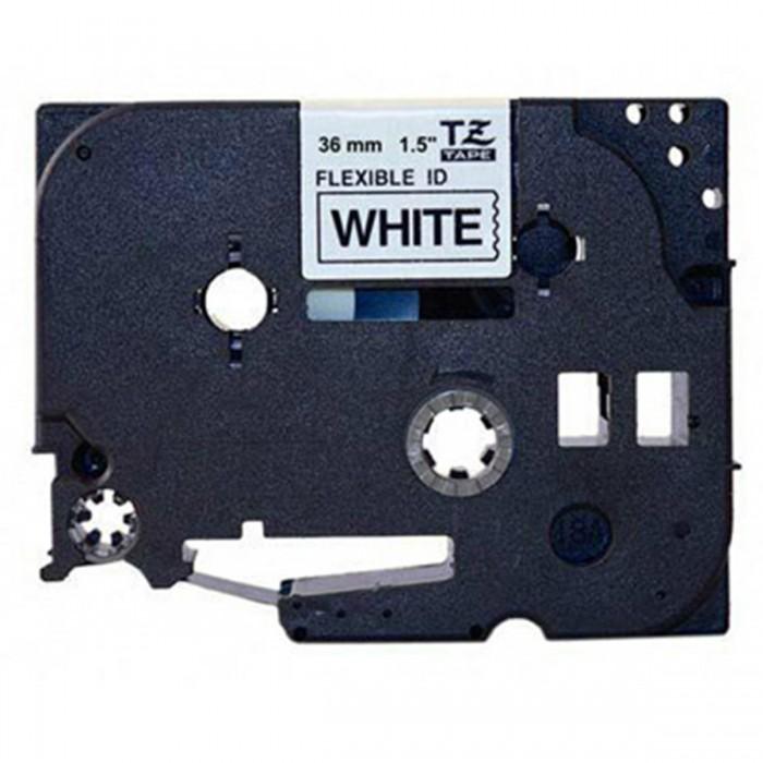 Fita Flexível Brother TZFX-261 - Largura: 36mm, Preto sobre Branco, Comprimento: 8m