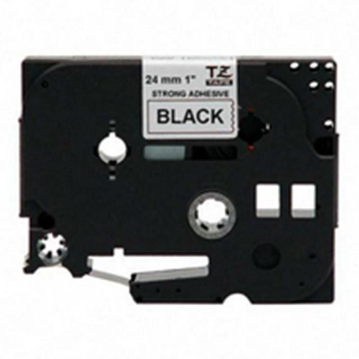 Fita p/ Rotuladora Brother TZS-251 - Largura: 24mm, Preto sobre Branco, Comprimento: 8m