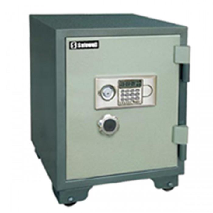 Cofre à prova de fogo Safewell YB-530ALD - Medidas Externas (AxCxP): 600x460x470mm, Capacidade: 39L, Trava mecânica e 2 chaves