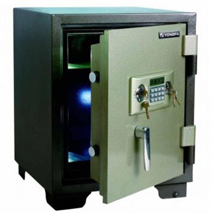 Cofre à prova de fogo Safewell YB-500ALD - Medidas Externas (AxCxP): 525x355x390mm, Capacidade: 20L, Trava mecânica e 2 chaves