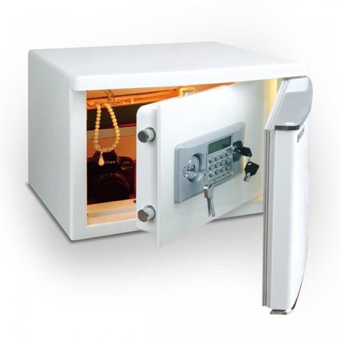 Cofre Safewell Refrigerator Safe 400BBX - Medidas Externas (AxCxP): 400x450x460mm, Capacidade: 60L, dois códigos de 4 a 18 dígitos cada um
