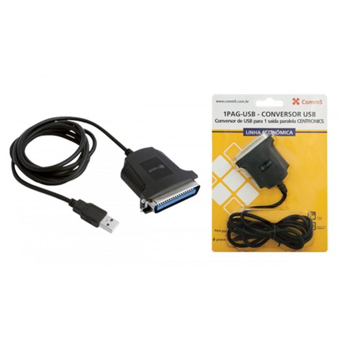 Conversor Comm5 1PAG-USB Linha Econômica - Converte USB para 1 saída paralela CENTRONICS