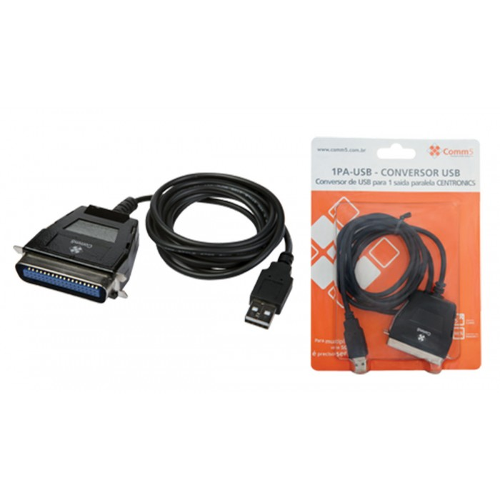 Conversor Comm5 1PA-USB - Converte USB para 1 saída paralela CENTRONICS
