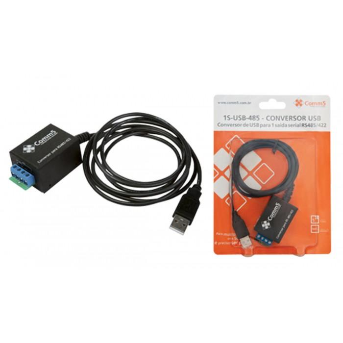 Conversor Comm5 1S-USB-485 - Converte USB para 1 saída serial RS485/RS422