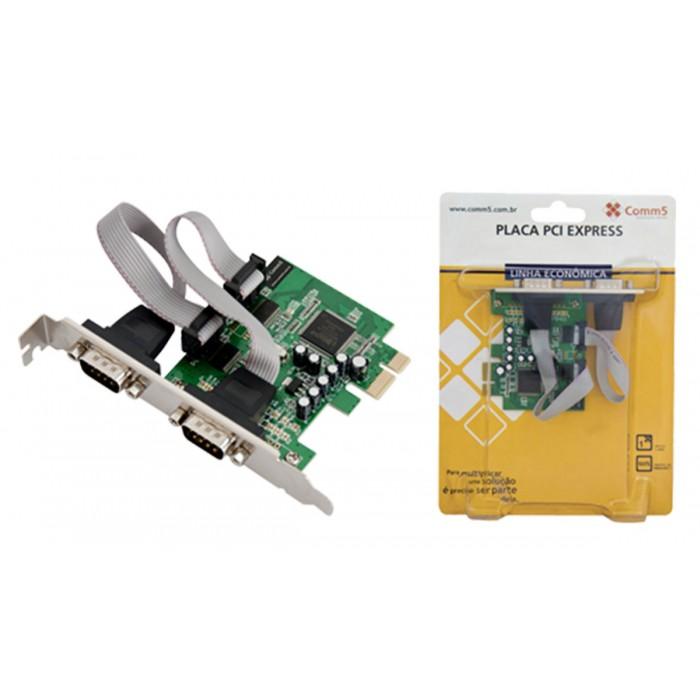 Placa PCI Express Comm5 2SG-PCI-E - 2 saídas seriais RS232