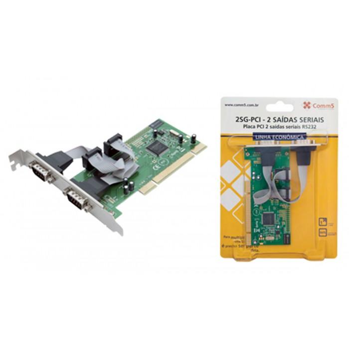 Placa PCI Comm5 2SG-PCI - 2 saídas seriais RS232