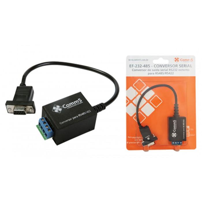 Conversor Comm5 E-232-485 - Converte saída serial RS232 externo para RS485/RS422
