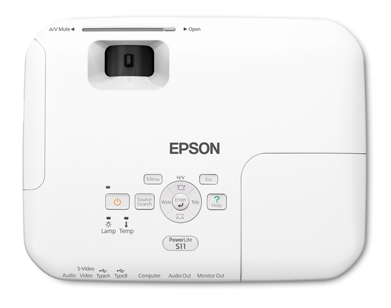 Projetor Epson Powerlite S11 2600 ANSI Lumens - SVGA (800x600)