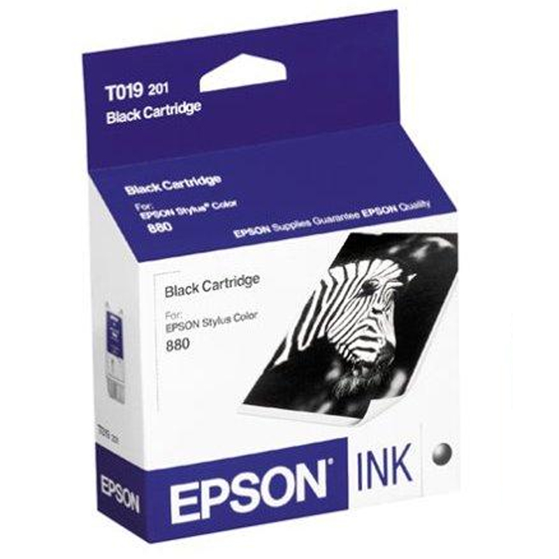 Cartucho de Tinta Preta Epson Original T019201-AL p/ Stylus Color 880 (Cod: 6378)
