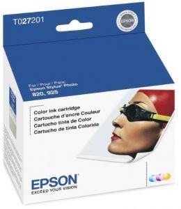 Cartucho de Tinta Colorido Epson Original T027201-AL p/ Stylus Photo 820 (Cod: 6384)