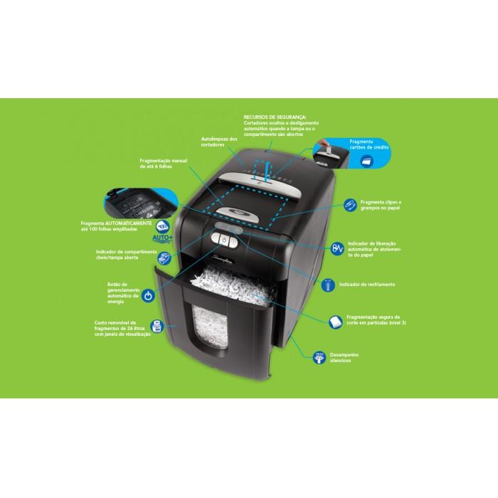Fragmentadora de Papel Automática Swingline 100X 220V