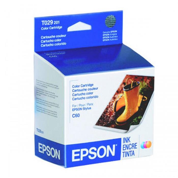 Cartucho de Tinta Colorido Epson Original T029201-AL p/ Stylus C60 (Cod: 6428)