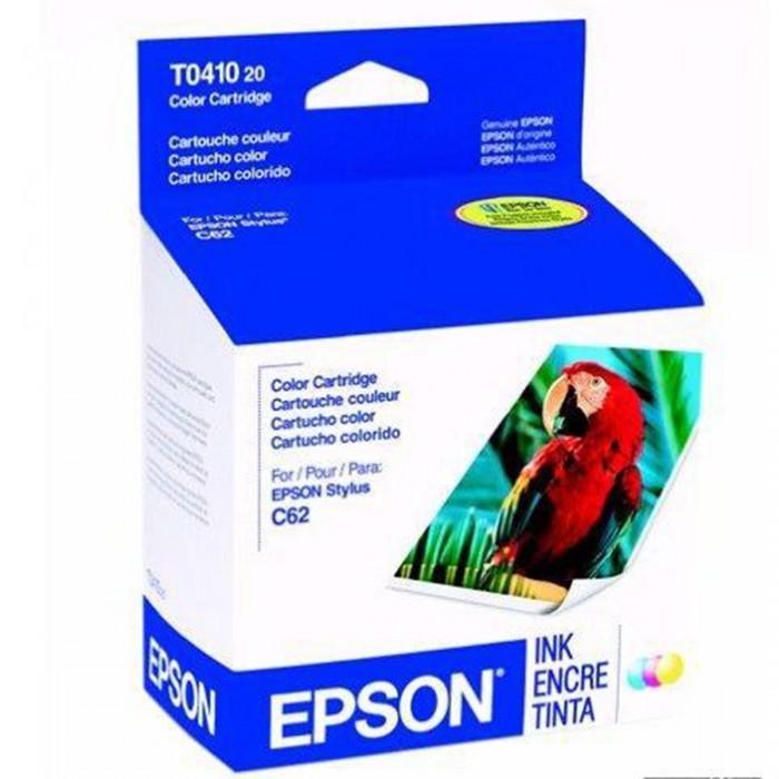 Cartucho de Tinta Colorida Epson Original T041020-AL p/ Stylus C62 / CX3200 (Cod: 6450)