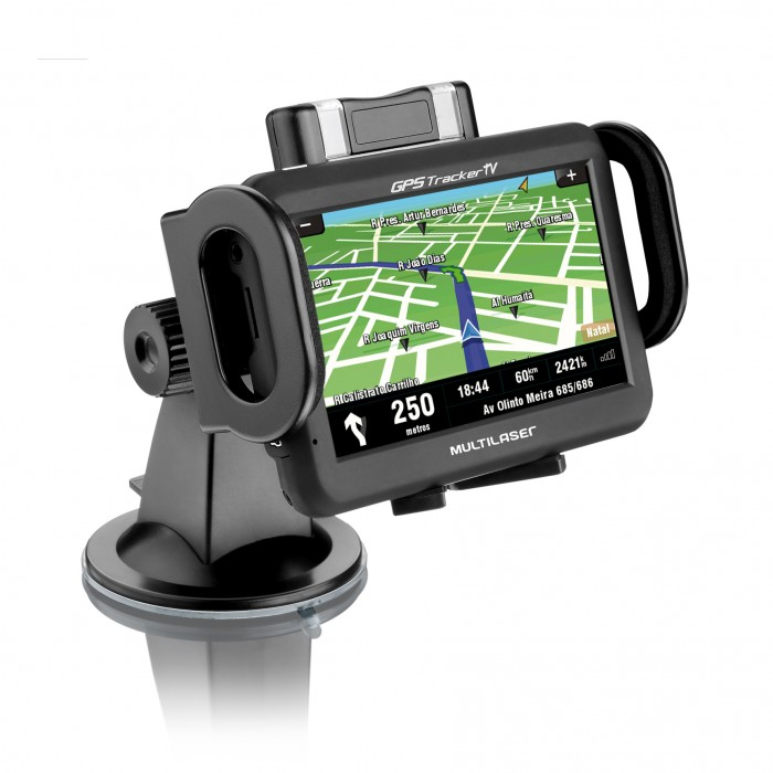 Suporte Universal Multilaser CP118S para GPS IPhone Ipod PDA, Suporta aparelhos entre 5 e 11cm Ideal para Carros