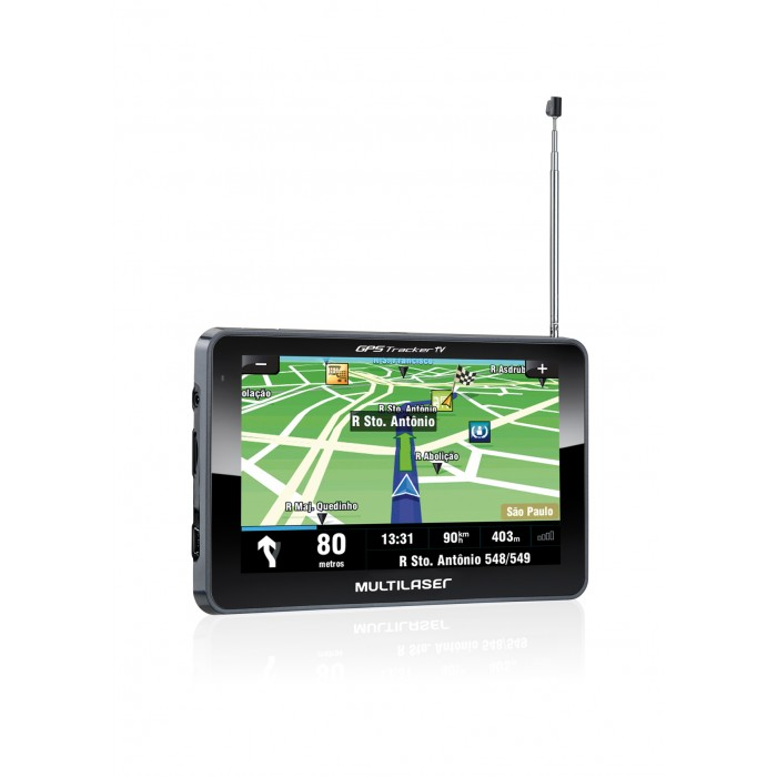 GPS Tracker TV 5 Multilaser GP014 - Tela 5´, TV Digital, FM Transmiter