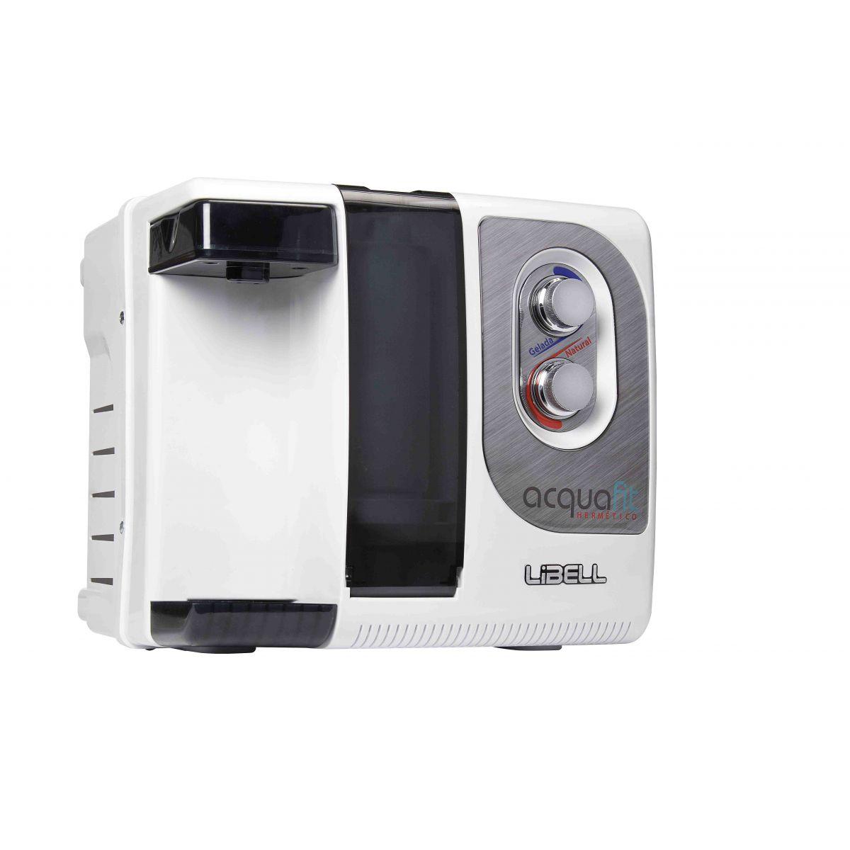 Purificador Herm�tico Branco Libell Acqua-Fit bivolt Compacto, 3 etapas de filtragem