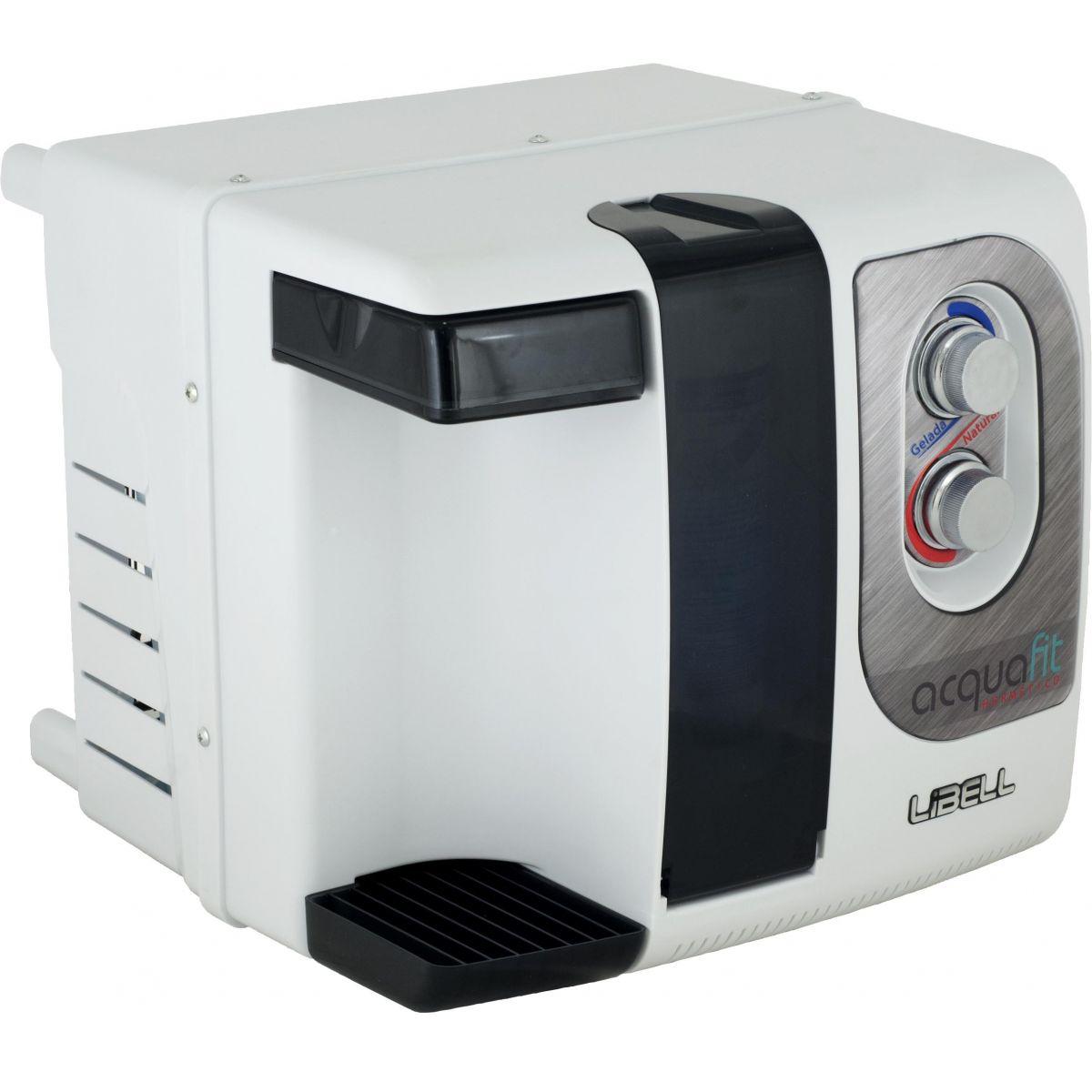 Purificador Hermético Branco Libell Acqua-Fit bivolt Compacto, 3 etapas de filtragem