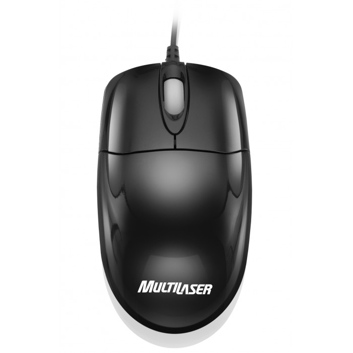 Mouse Black Piano USB Multilaser MO139