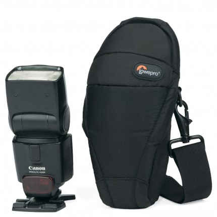 Estojo Lowepro p/ Flash S&F Quick Flex Pouch 55AW - Canon 430EX / Nikon SB600