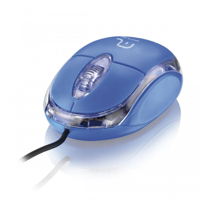 Mouse Multilaser �ptico Classic USB Azul MO001