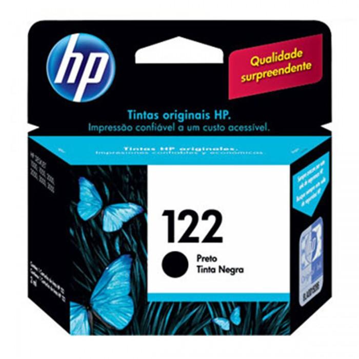 Cartucho de Tinta HP 122 Preto Original CH561HL - p/ HP Deskjet 1000, 1050, 1055, 2000, 2050, 3000, 3050, 3050A