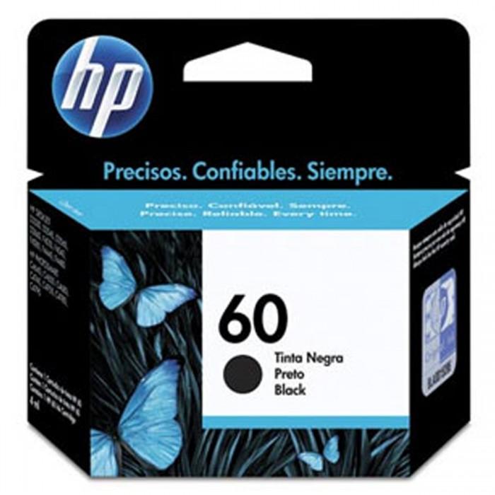 Cartucho de Tinta HP 60 Preto Original CC640WL - p/ HP Deskjet  D1660, D2530, D2545, D2560, D2660, D2680, D5560, F2430, F2480, F4210, F4235, F4240, F4280, F4435, F4440, F4480, F4580
