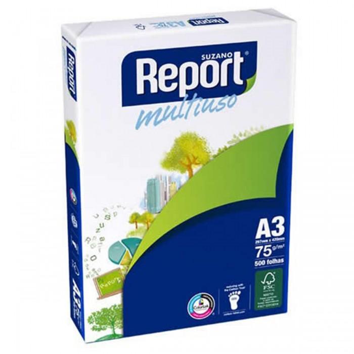 Papel Sulfite Report A3 Branco Caixa 5000 folhas