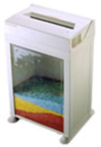 FRAGMENTADORA DE PAPEL SECURITY 22CC - Corta até 5 folhas em micropartículas de 2x2 mm Nível de Segurança Máxima N6, cesto de 27 litros, fenda 230 mm, 375W,13 Kg, 220V (com transformador)