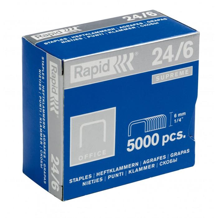 Grampos Rapid Padrão Nº 24 - 24/6, Caixa com 5000 grampos