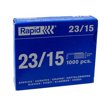 Grampos Rapid Nº 23 - 23/15, Caixa com 1000 grampos 60523