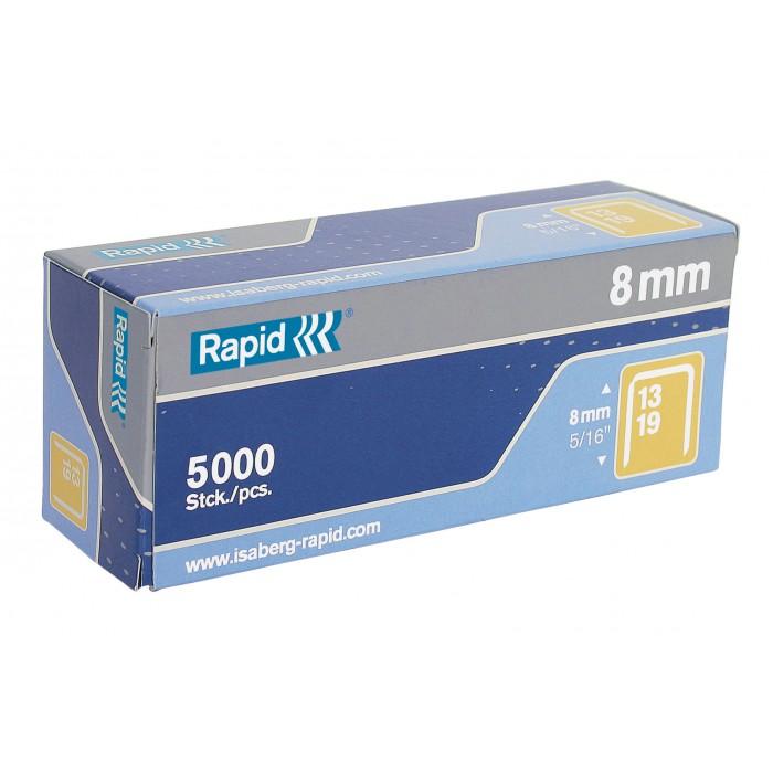 Grampos Rapid Nº13 - 8mm, Caixa com 5000 grampos