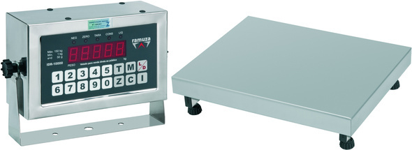 Balança Industrial Plataforma Digital de Aço Carbono Ramuza Capacidade de 30Kg base de 40x40cm IDR de Ferro (Cod: 7246)