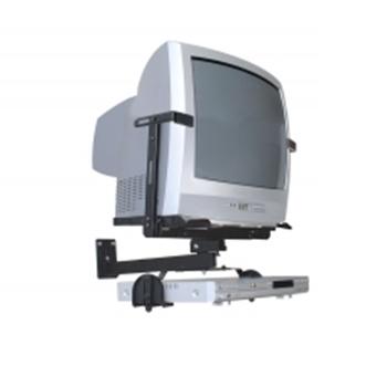 Suporte Brasforma  Preto para TV CRT de 14 a 21 SBR1.2 (Incluso suporte para DVD)