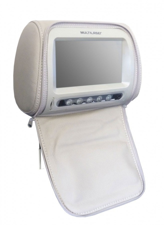 Descanso de cabeça com tela Multilaser AU301 - Cinza